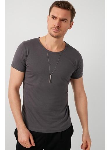 Buratti Buratti Basic Erkek T-Shirt 5412008 Füme
